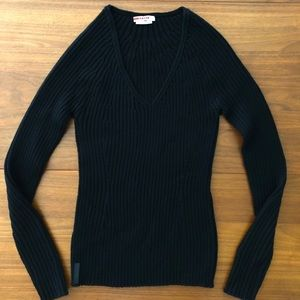 NWOT PRADA Soft Wool V Neck Sweater